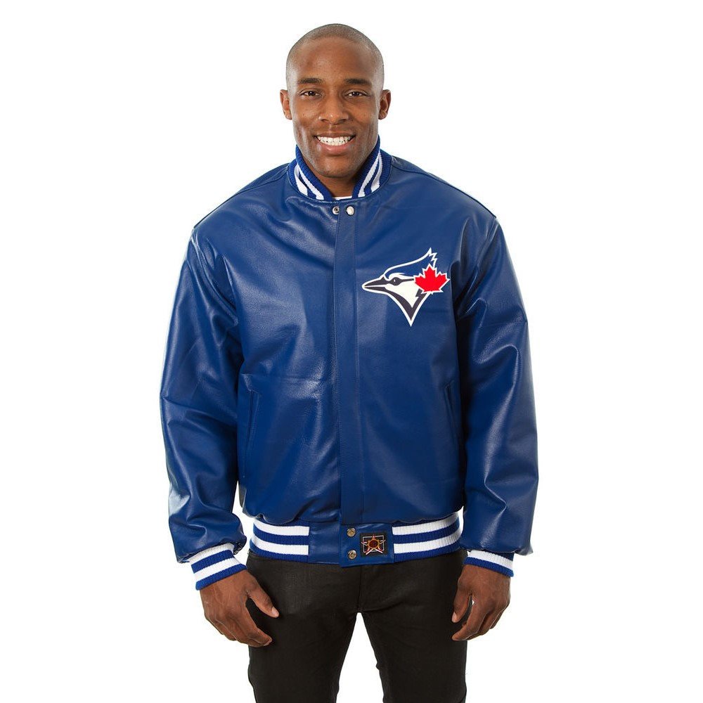 JH デザイン JH Design メンズ アウター レザージャケット【Toronto Blue Jays Adult Leather Jacket】Royal