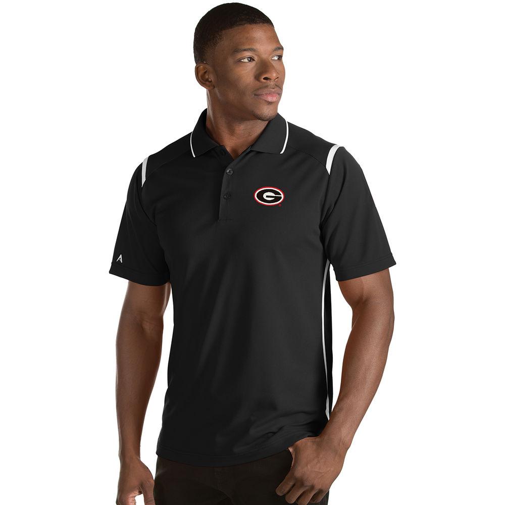 アンティグア Antigua メンズ トップス ポロシャツ【Georgia Bulldogs Adult Merit Polo】Black