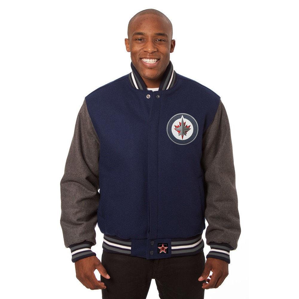 JH デザイン JH Design メンズ アウター ジャケット【Winnipeg Jets Adult Wool Jacket】Blue/Grey