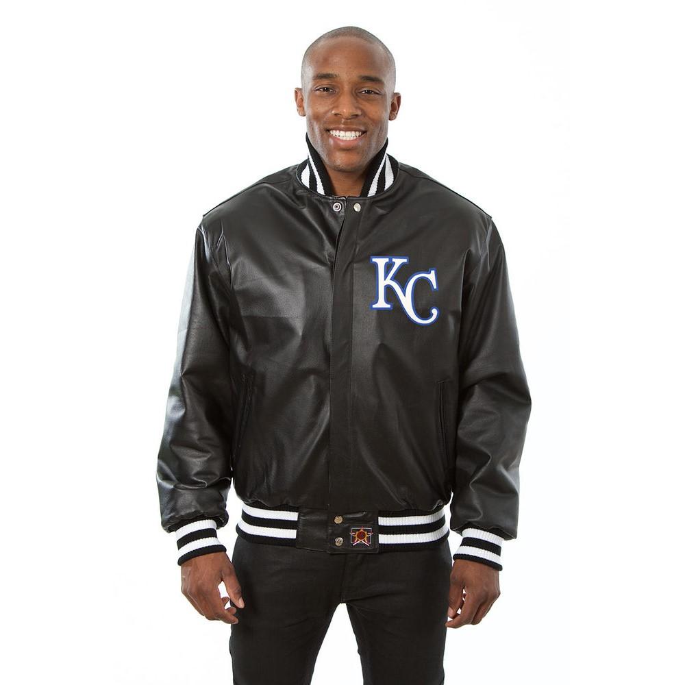JH デザイン JH Design メンズ アウター レザージャケット【Kansas City Royals Adult Leather Jacket】Black