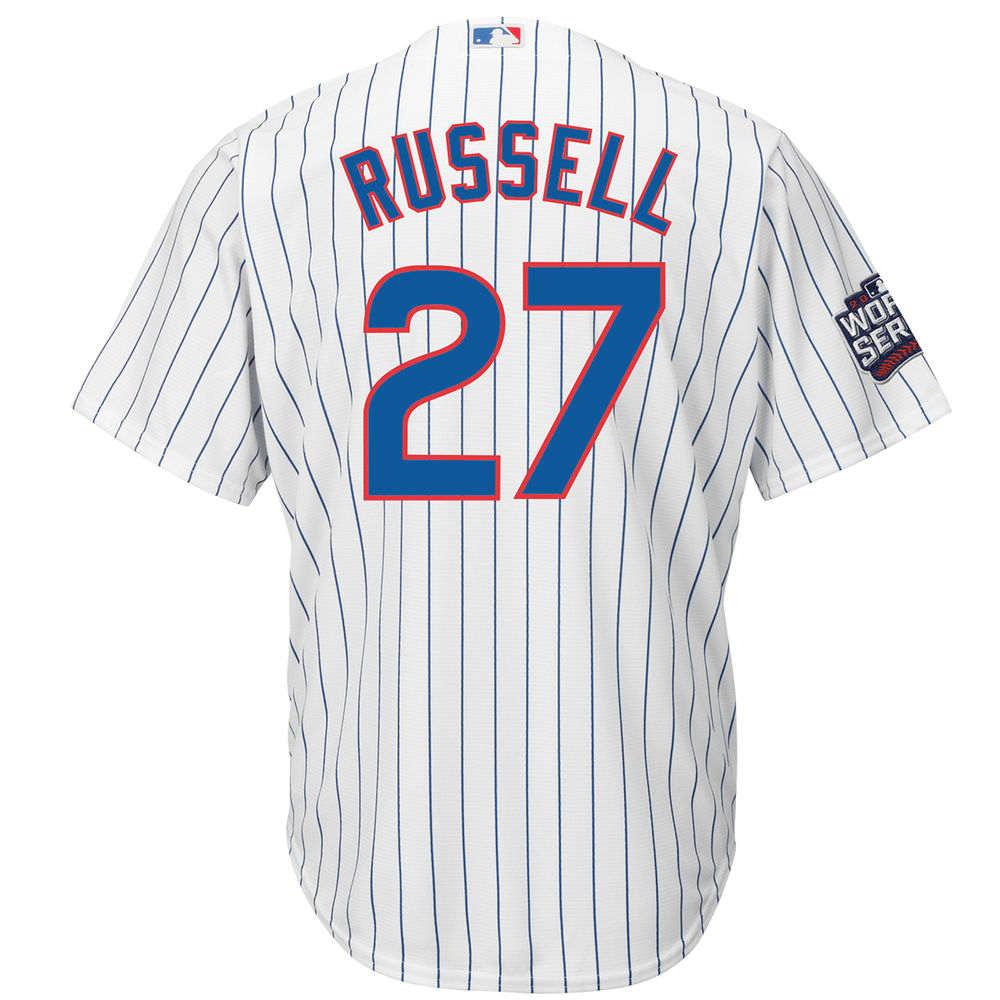 マジェスティック Majestic メンズ トップス【Chicago Cubs Adult Addison Russell World Series Cool Base Jersey】White