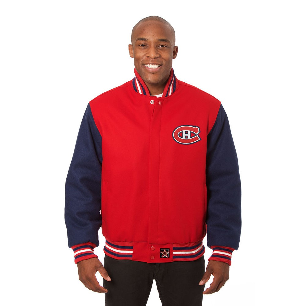 JH デザイン JH Design メンズ アウター ジャケット【Montreal Canadiens Adult Wool Jacket】Red/Navy