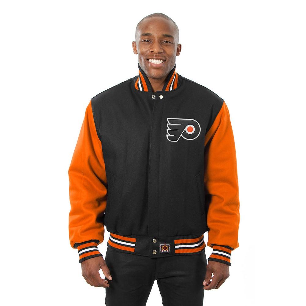JH デザイン JH Design メンズ アウター ジャケット【Philadelphia Flyers Adult Wool Jacket】Black/Orange
