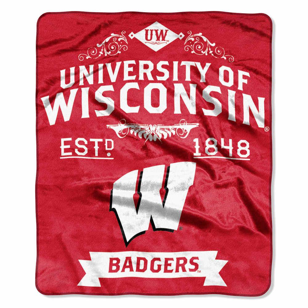 ノースウエスト Northwest ユニセックス マフラー・スカーフ・ストール【Wisconsin Badgers Label Raschel Throw】