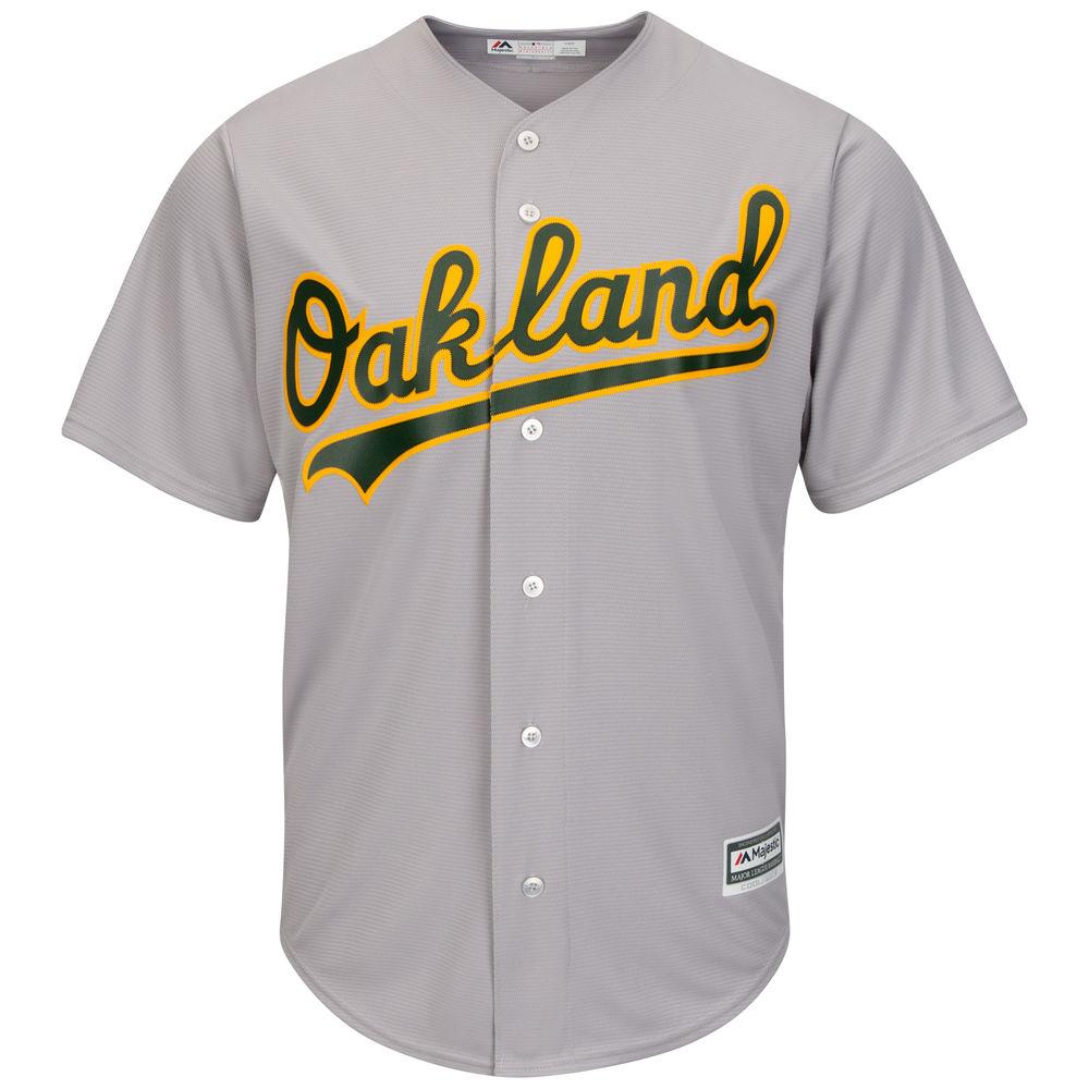 マジェスティック Majestic メンズ トップス【Oakland Athletics Adult Cool Base Replica Jersey】Grey