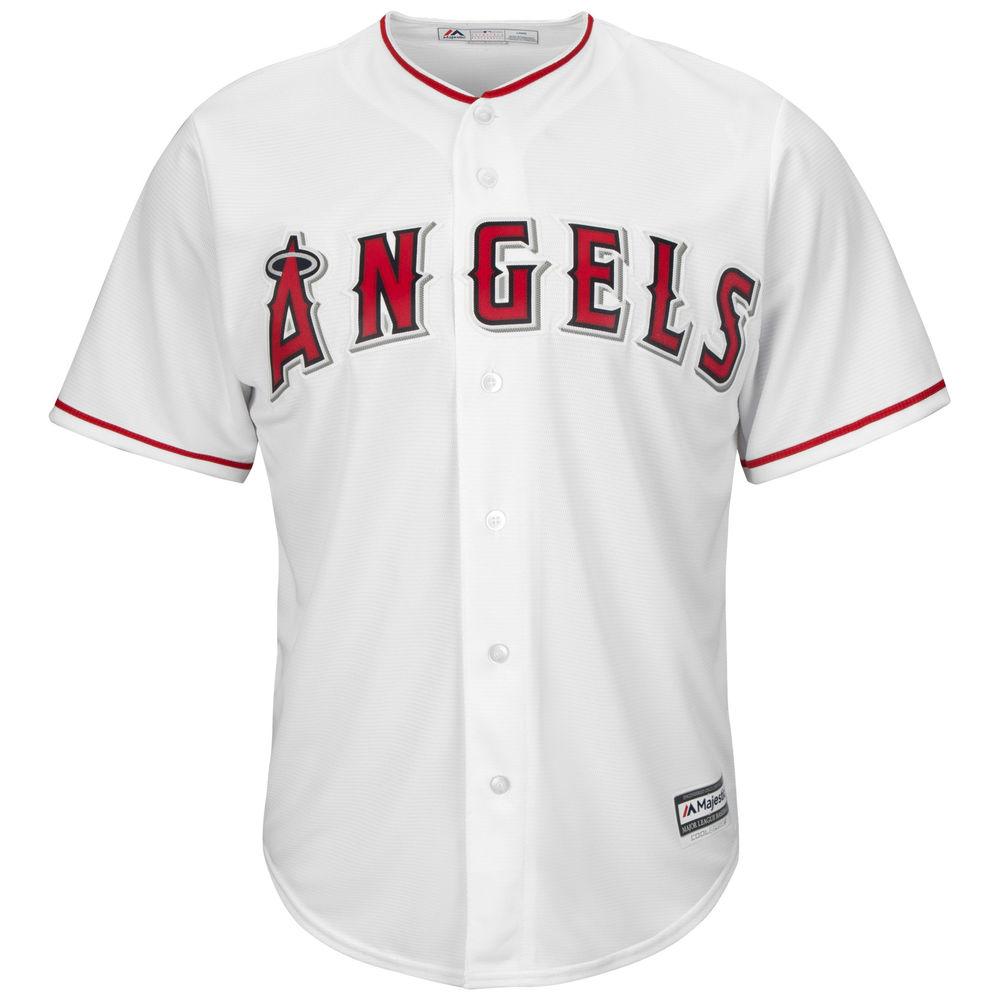 マジェスティック Majestic メンズ トップス【Los Angeles Angels of Anaheim Adult Cool Base Replica Jersey】White