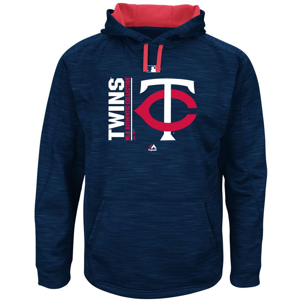 マジェスティック Majestic メンズ トップス フリース【Minnesota Twins Big Authentic Collection Icon Streak Fleece Hoodie (Big & Tall)】Navy