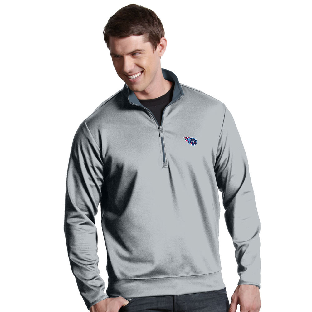 アンティグア Antigua メンズ トップス【Tennessee Titans Leader Quarter Zip Pullover】Steel