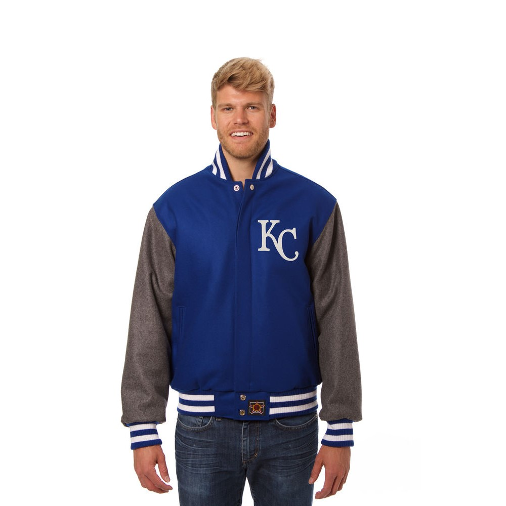 JH デザイン JH Design メンズ アウター ジャケット【Kansas City Royals Adult Wool Jacket】Blue/Grey
