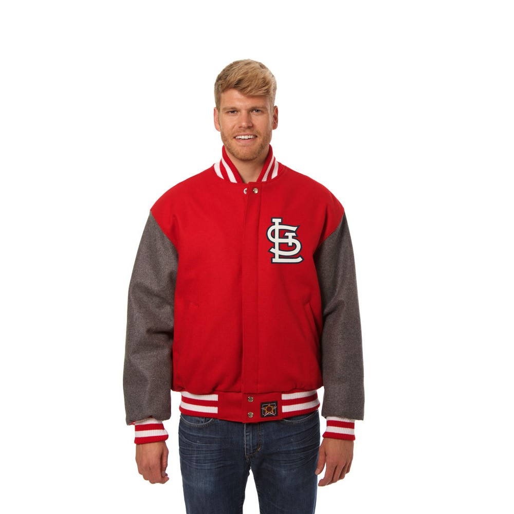 JH デザイン JH Design メンズ アウター ジャケット【St. Louis Cardinals Adult Wool Jacket】Red/Grey
