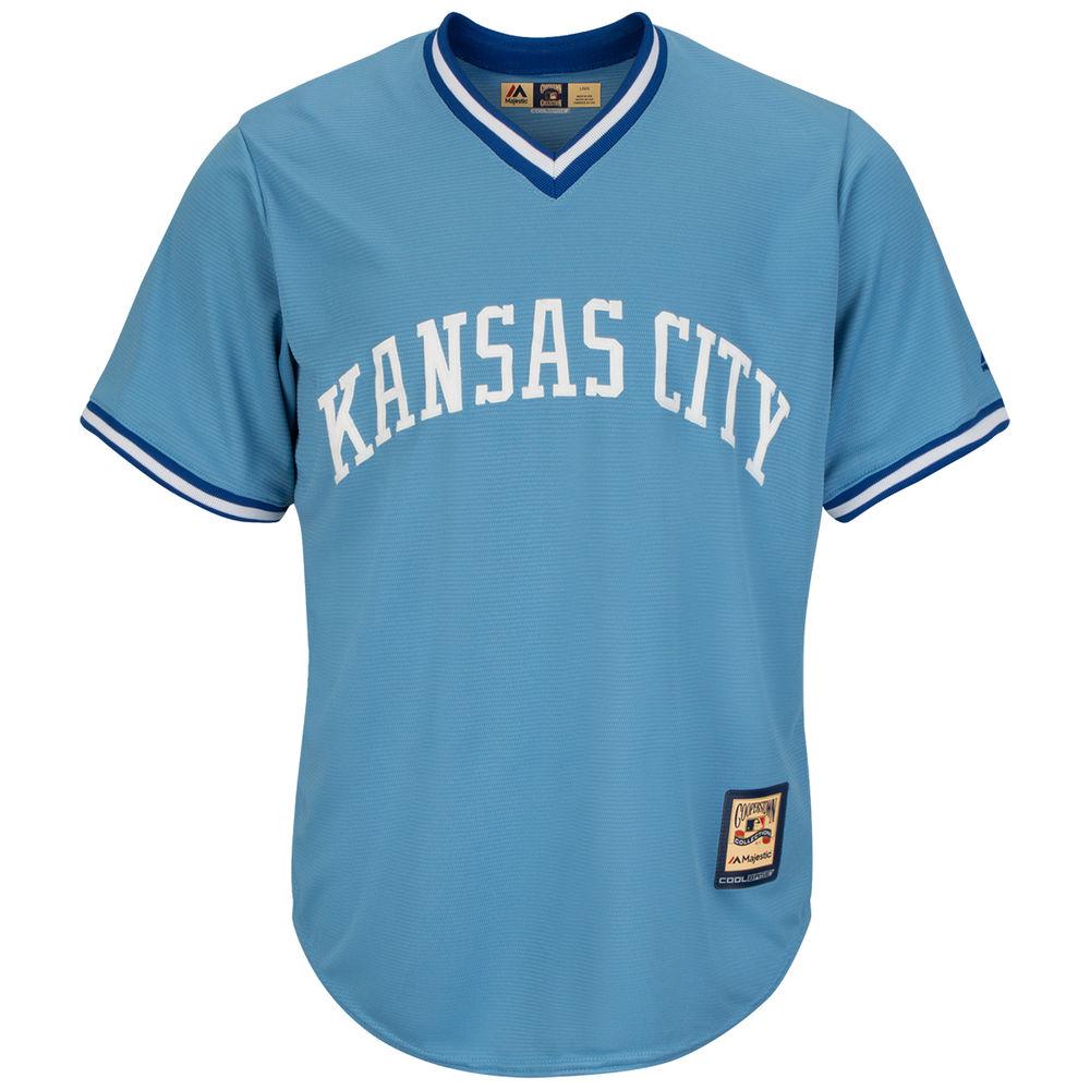マジェスティック Majestic メンズ トップス【Kansas City Royals Adult Cool Base Replica Jersey】Columbia Blue