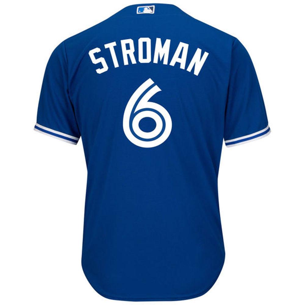 マジェスティック Majestic メンズ トップス【Toronto Blue Jays Adult Marcus Stroman Alternate Jersey】