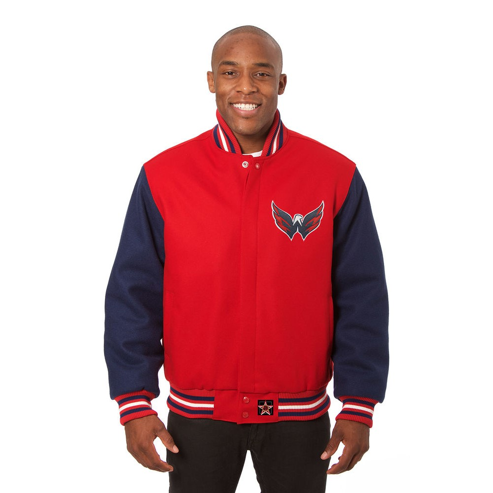 JH デザイン JH Design メンズ アウター ジャケット【Washington Capitals Adult Wool Jacket】Red/Navy