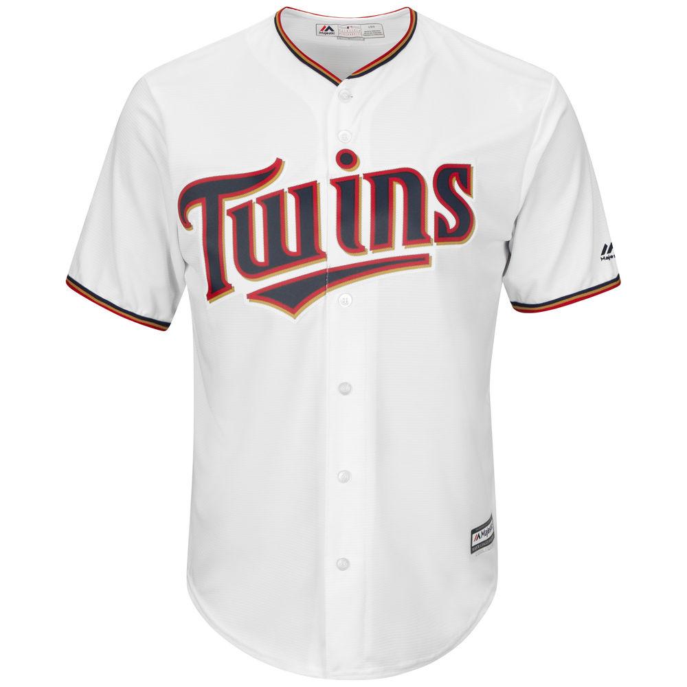 マジェスティック Majestic メンズ トップス【Minnesota Twins Big Cool Base Jersey (Big & Tall)】White