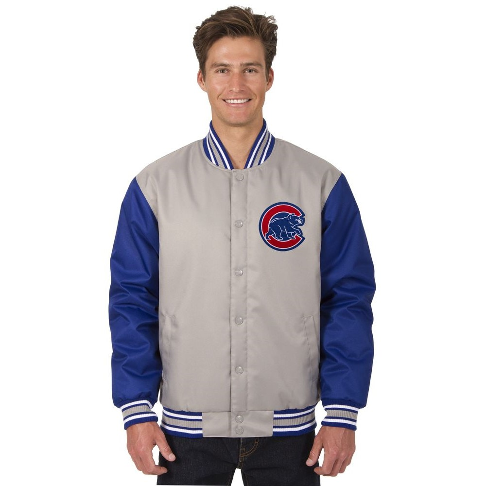 JH デザイン JH Design メンズ アウター ジャケット【Chicago Cubs Adult Polytwill Jacket】Grey/Royal