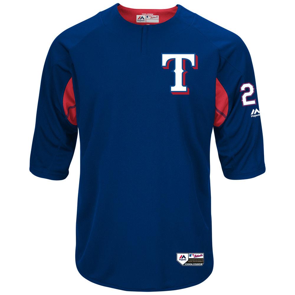 マジェスティック Majestic メンズ トップス【Texas Rangers Adult Adrian Beltre Authentic Collection On-Field 3/4-Sleeve Batting Practice Jersey】Royal
