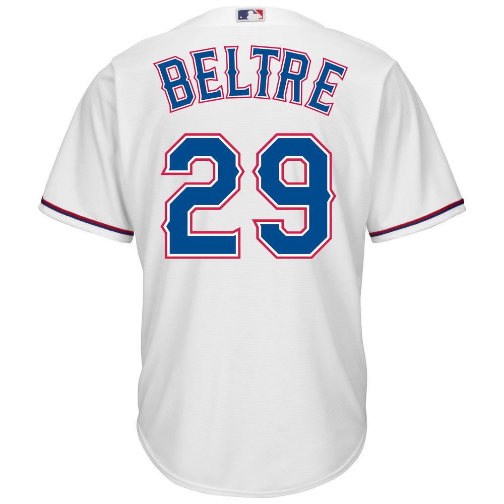マジェスティック Majestic メンズ トップス【Texas Rangers Adrian Beltre Adult Cool Base Replica Jersey】White