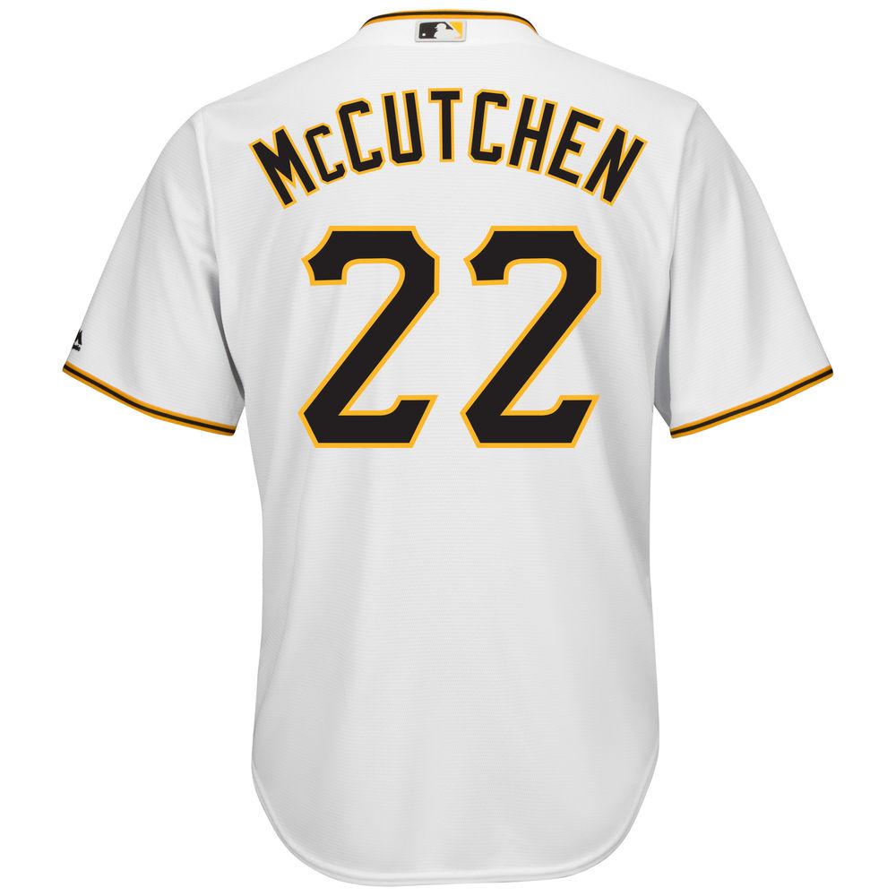 マジェスティック Majestic メンズ トップス【Pittsburgh Pirates Big Andrew McCutchen Cool Base Jersey (Big & Tall)】White