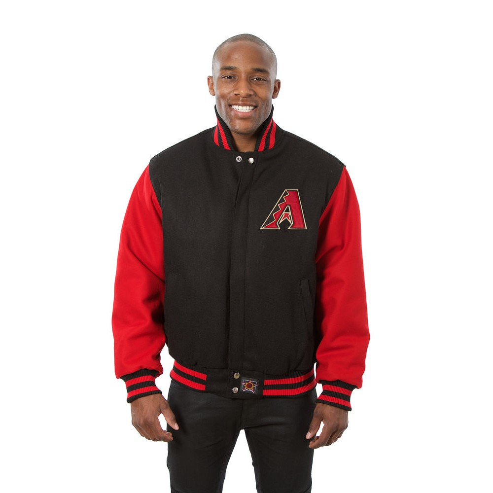 JH デザイン JH Design メンズ アウター ジャケット【Arizona Diamondbacks Adult Wool Jacket】Black/Red