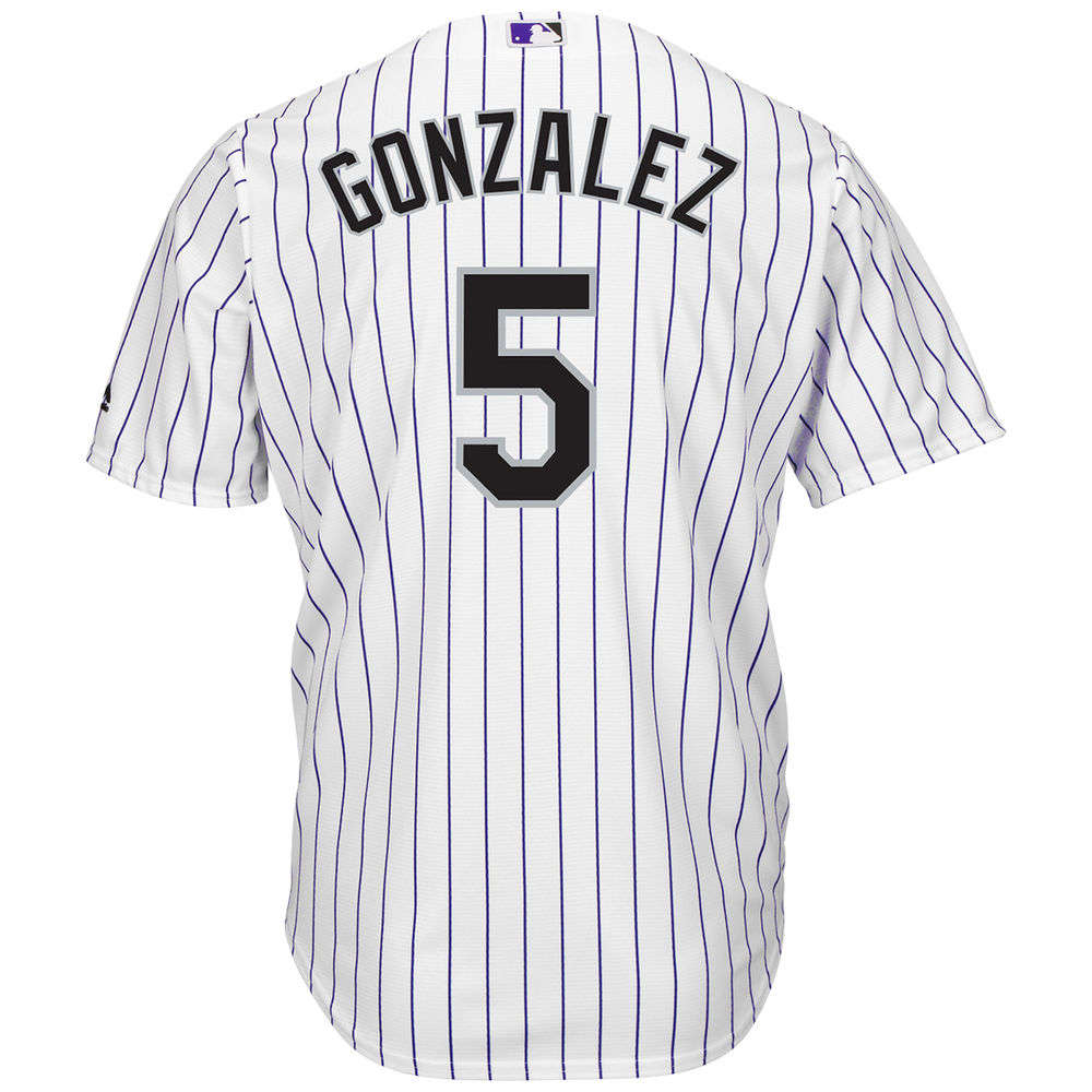 マジェスティック Majestic メンズ トップス【Colorado Rockies Adult Carlos Gonzalez Cool Base Jersey】White