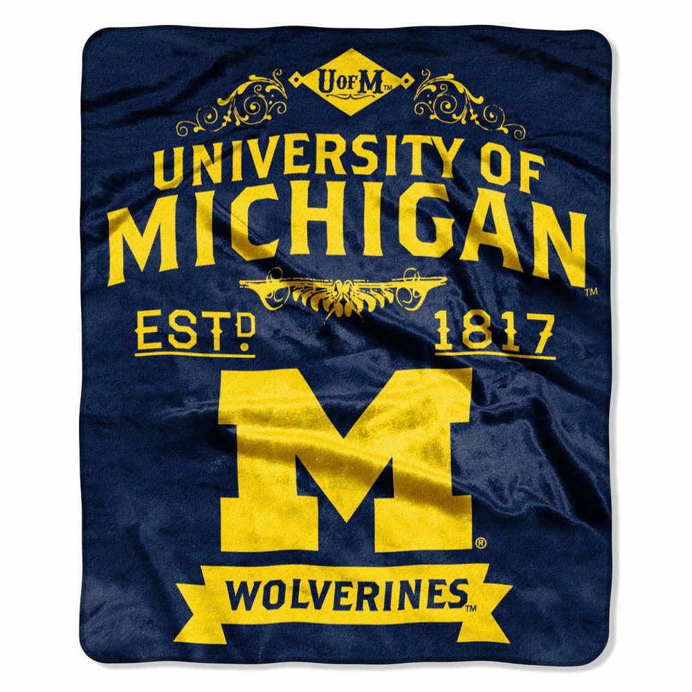 ノースウエスト Northwest ユニセックス マフラー・スカーフ・ストール【Michigan Wolverines Label Raschel Throw】