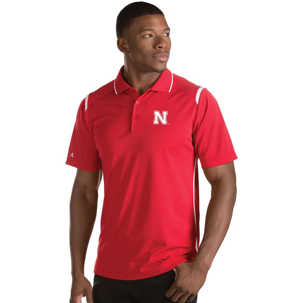 アンティグア Antigua メンズ トップス ポロシャツ【Nebraska Cornhuskers Adult Merit Polo】Red