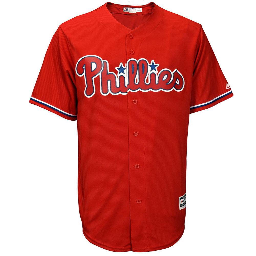 マジェスティック Majestic メンズ トップス【Philadelphia Phillies Adult Alternate Cool Base Jersey】Red