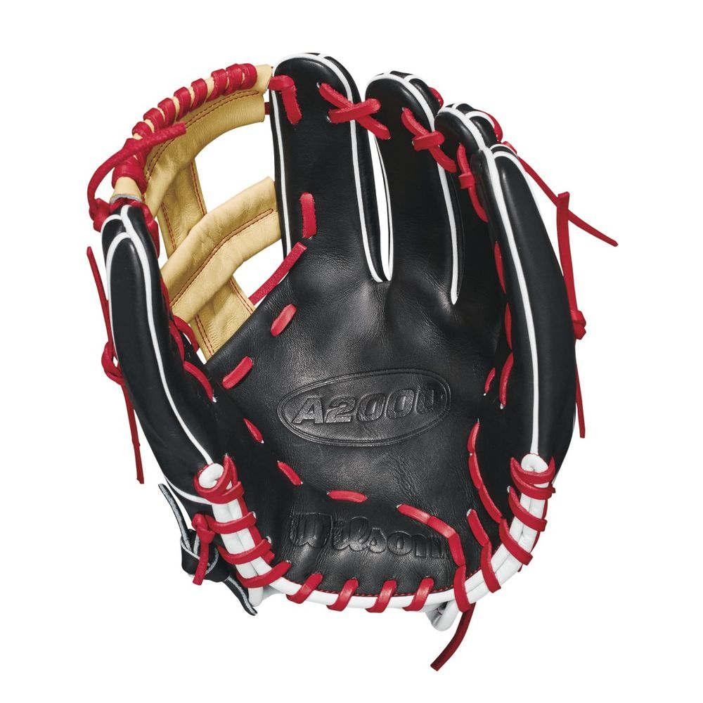 【激安大特価!】  ウィルソン Inch Wilson ユニセックス ウィルソン 野球 野球 グローブ【2018 A2000 11.75 Inch Right Hand Throw Baseball Glove】Black/Red, メタルワークスナカミチ:eaa43a82 --- wedding-soramame.yutaka-na-jinsei.com