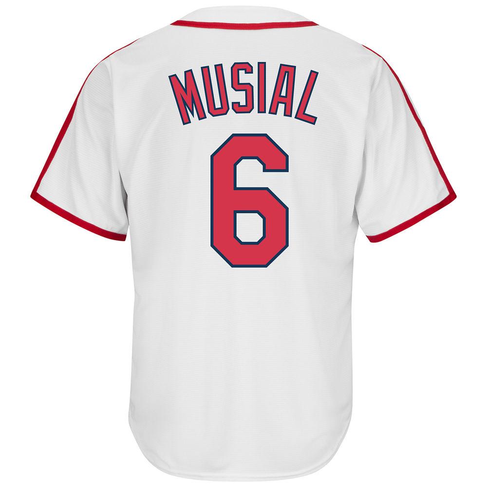 マジェスティック Majestic メンズ トップス【St. Louis Cardinals Adult Stan Musial Cooperstown Collection Jersey】
