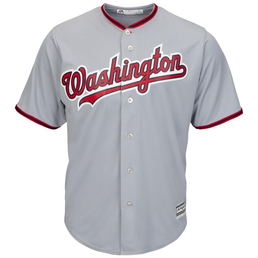 マジェスティック Majestic メンズ トップス【Washington Nationals Adult Cool Base Replica Jersey】Grey