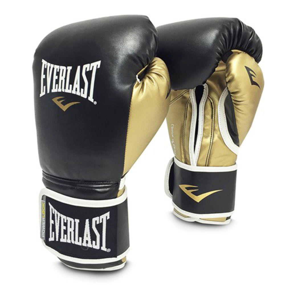 エバーラスト Everlast ユニセックス グローブ【14 Ounce Powerlock Boxing Gloves】Black/Gold