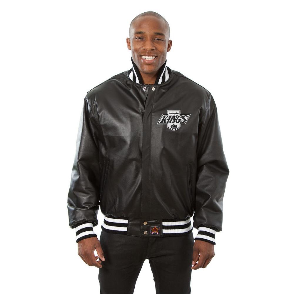 JH デザイン JH Design メンズ アウター レザージャケット【Los Angeles Kings Adult Leather Jacket】Black