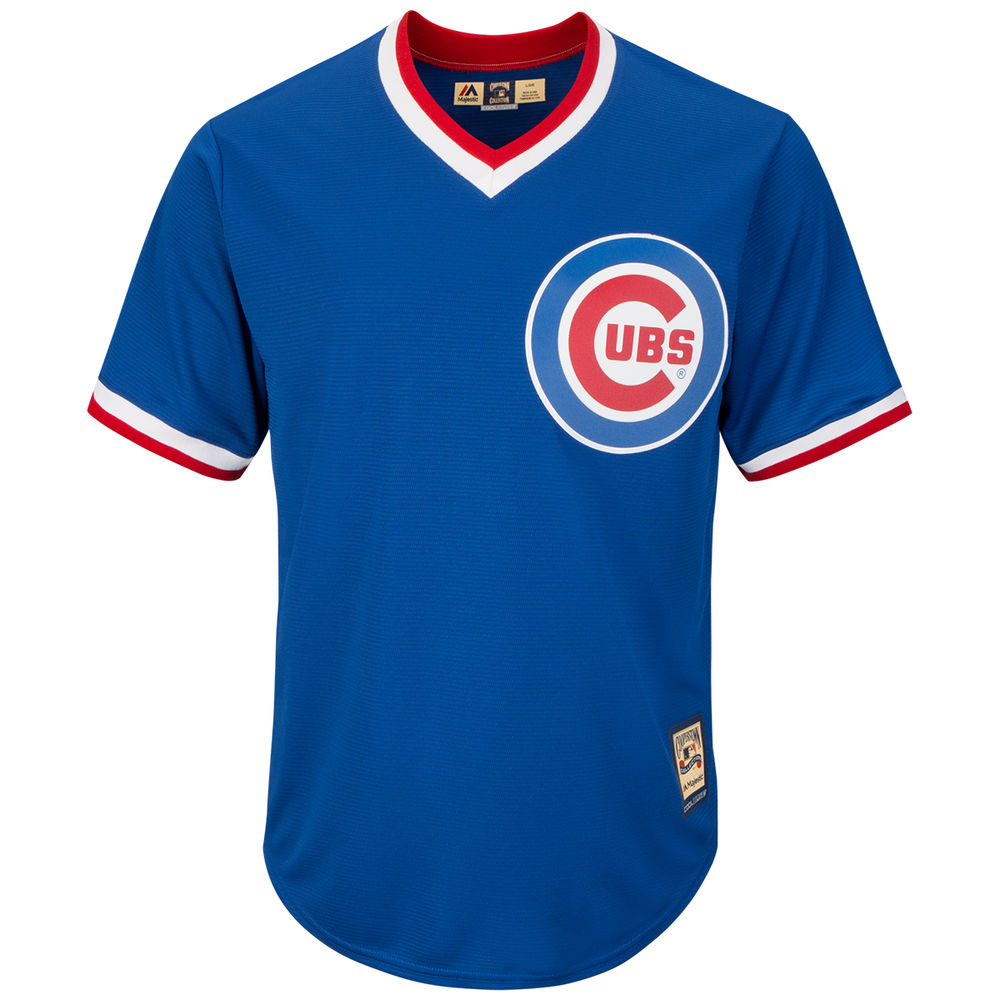 マジェスティック Majestic メンズ トップス【Chicago Cubs Adult Cooperstown Collection Cool Base Jersey】Royal