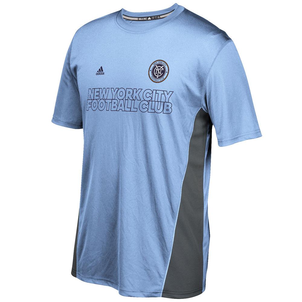 アディダス adidas メンズ サッカー トップス【New York City Football Club Adult Performance Short Sleeve Training Top】Light Blue