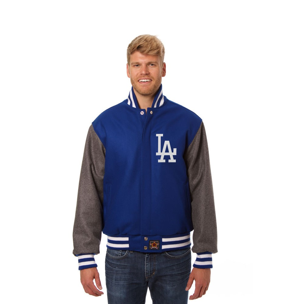 JH デザイン JH Design メンズ アウター ジャケット【Los Angeles Dodgers Adult Wool Jacket】Blue/Grey
