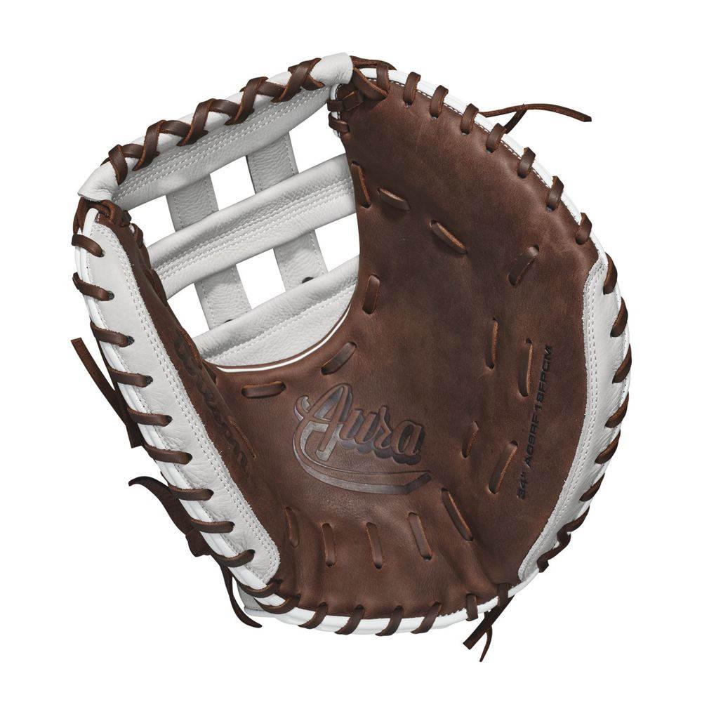 激安ブランド ウィルソン Wilson ユニセックス 野球 グローブ【2018 Aura 33 野球 Wilson 33 Inch Right Hand Throw Catchers Mitt】Brown/White, ジュエリー チョコ*フィオーレ:f1e51ff9 --- hortafacil.dominiotemporario.com