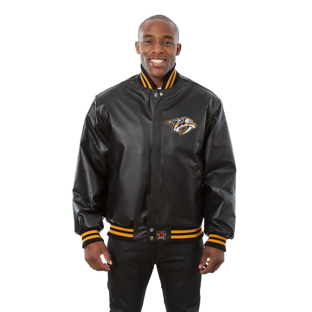 JH デザイン JH Design メンズ アウター レザージャケット【Nashville Predators Adult Leather Jacket】Black