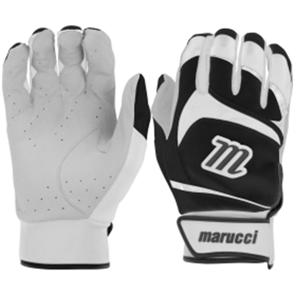 マルッチ Marucci ユニセックス 野球 グローブ【Adult Signature Series Baseball Batting Gloves】White/Black