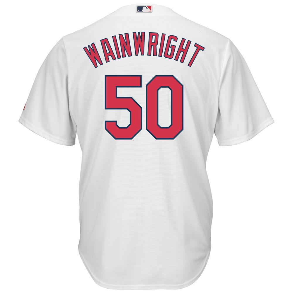 マジェスティック Majestic メンズ トップス【St. Louis Cardinals Adam Wainwright Adult Cool Base Replica Jersey】White
