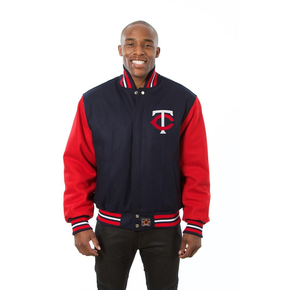 JH デザイン JH Design メンズ アウター ジャケット【Minnesota Twins Adult Wool Jacket】Blue/Red