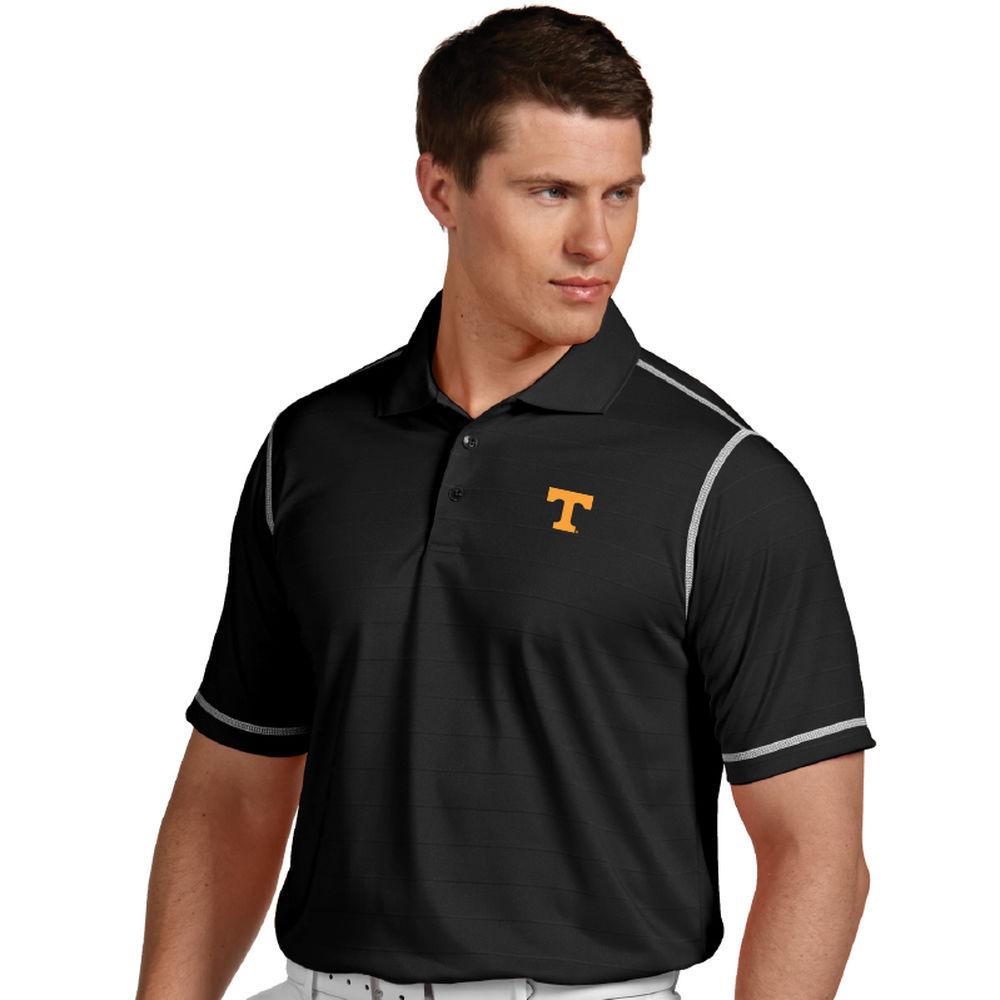 アンティグア Antigua メンズ トップス ポロシャツ【Tennessee Smokies Icon Striped Polo】Black/White