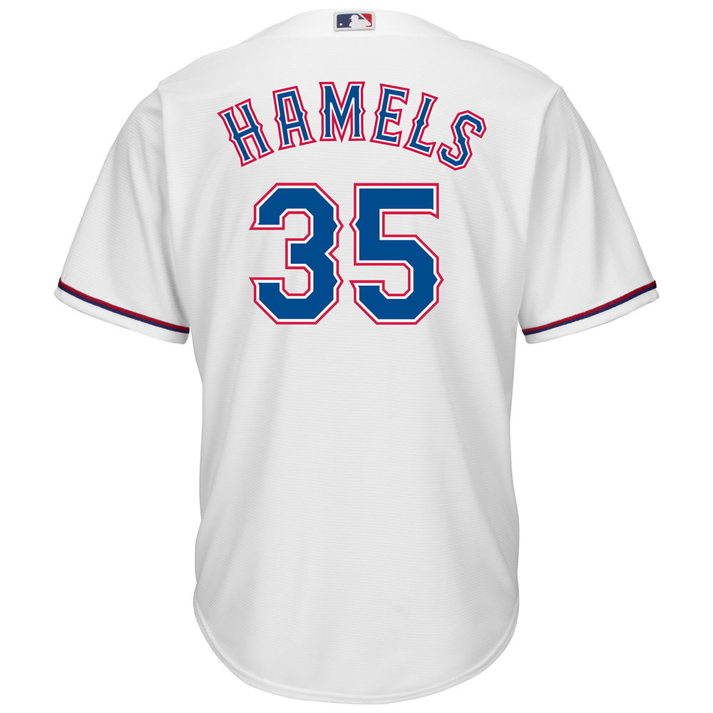 マジェスティック Majestic メンズ トップス【Texas Rangers Adult Cole Hamels Home Jersey】