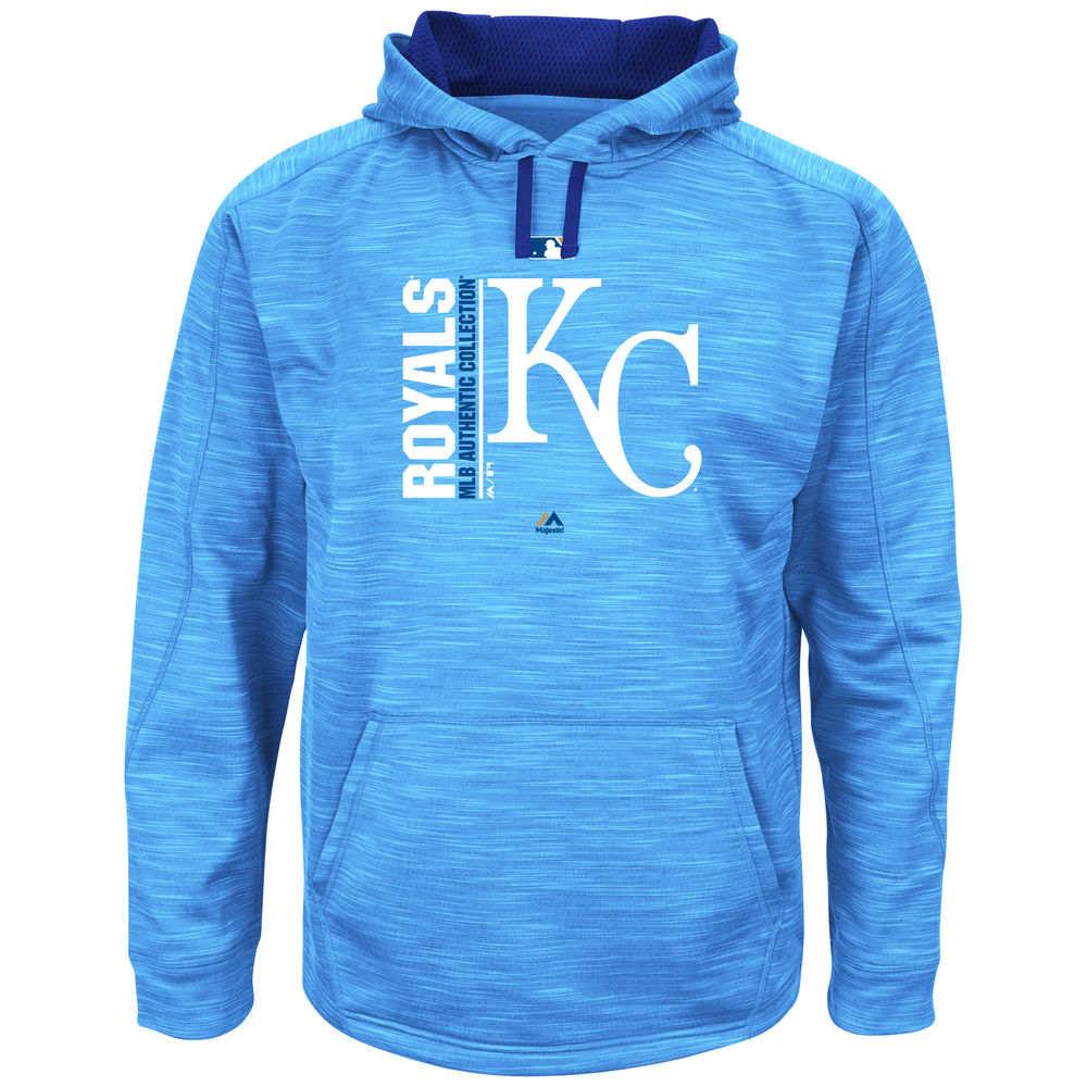 マジェスティック Majestic メンズ トップス フリース【Kansas City Royals Big Authentic Collection Icon Streak Fleece Hoodie (Big & Tall)】Royal