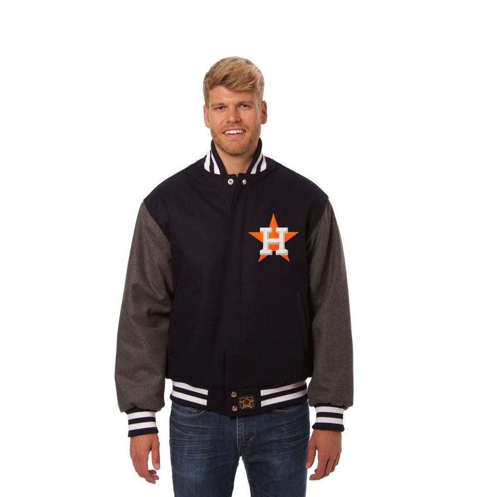JH デザイン JH Design メンズ アウター ジャケット【Houston Astros Adult Wool Jacket】Blue/Grey