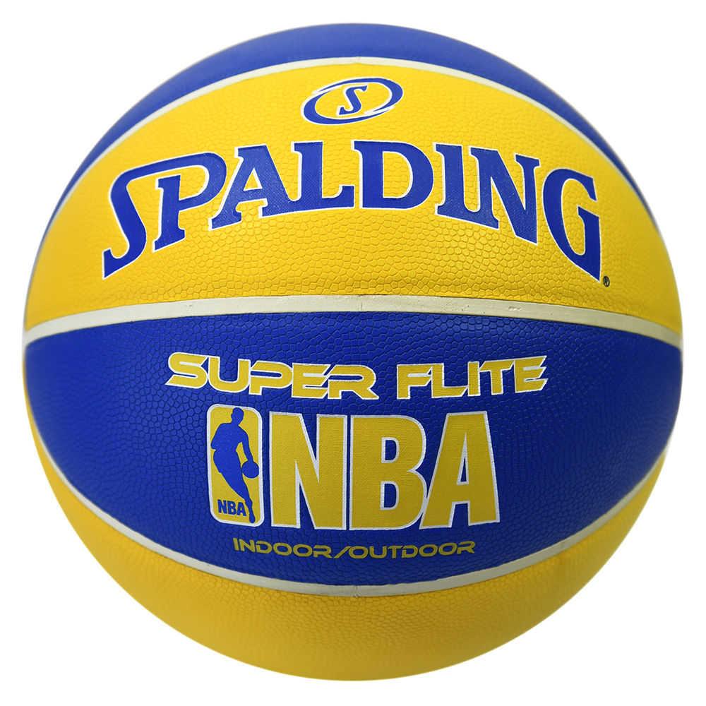 スポルディング Spalding ユニセックス バスケットボール ボール【NBA Super Flite Basketball】Blue/Gold