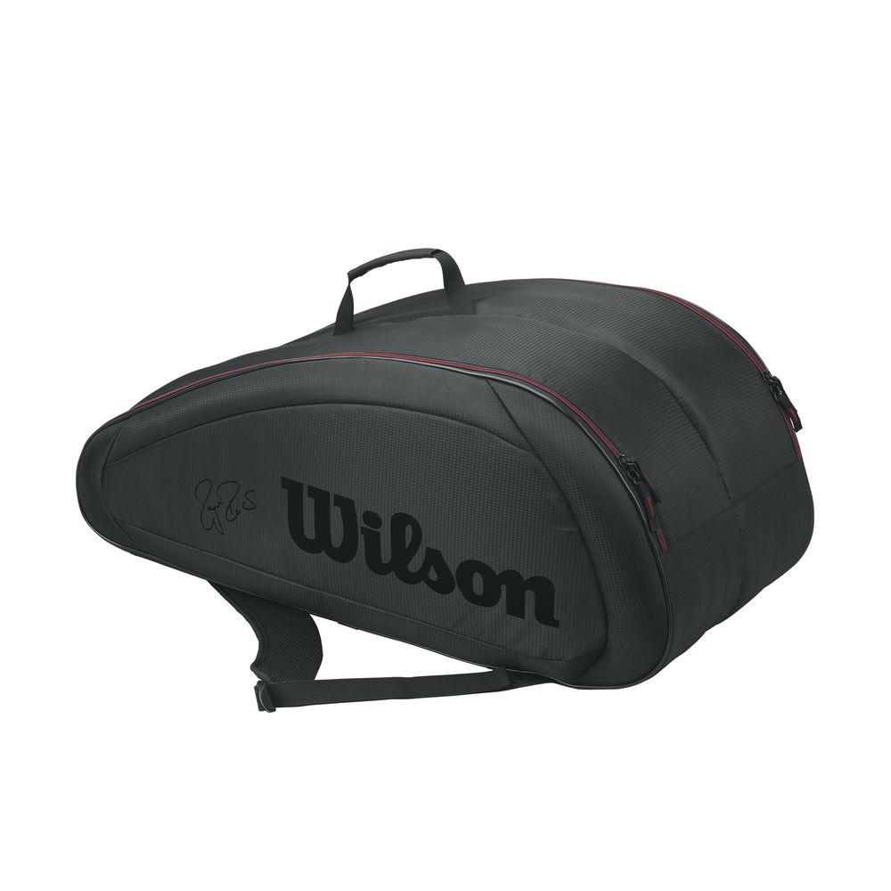 ウィルソン Wilson ユニセックス テニス【Federer Team 12 Pack Tennis Bag】Black