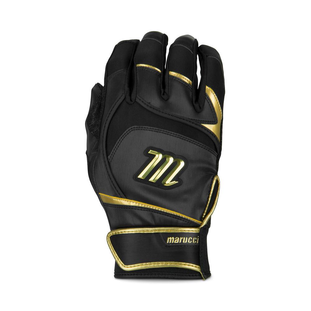 マルッチ Marucci ユニセックス 野球 グローブ【Adult Signature Pittards Batting Gloves】Black