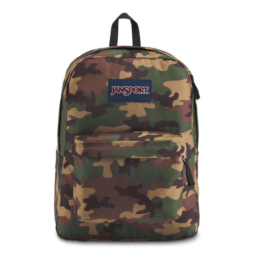 ジャンスポーツ JanSport ユニセックス バッグ バックパック・リュック【Superbreak Backpack】Green Camo