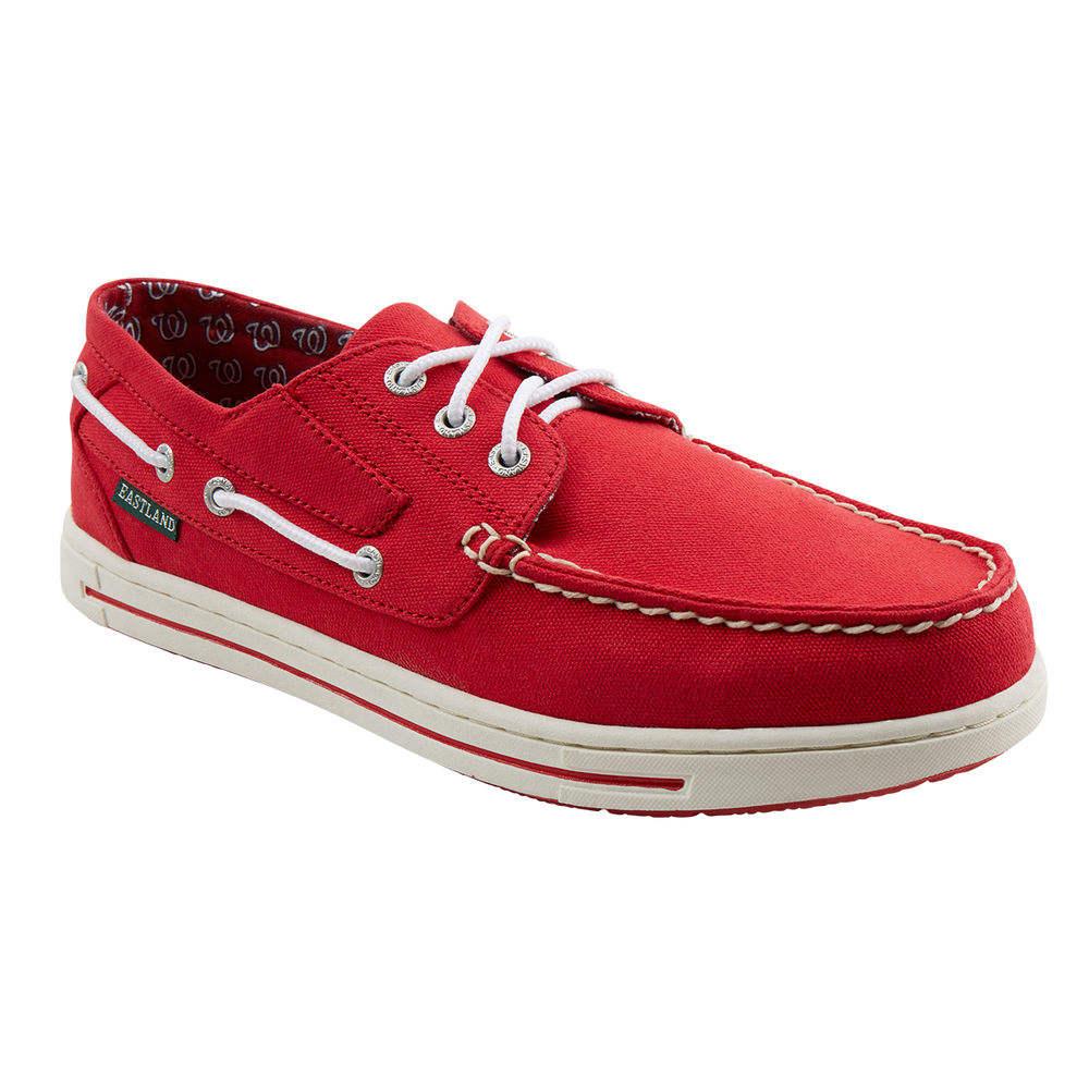 イーストランド Eastland メンズ Eastland シューズ・靴 メンズ デッキシューズ Nationals【Adventure Washington Nationals Boat Shoe】Red, 靴のマーロー:e234d00c --- officewill.xsrv.jp