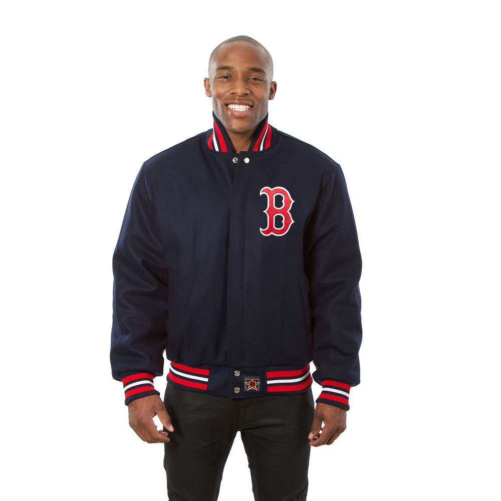 JH デザイン JH Design メンズ アウター ジャケット【Boston Red Sox Adult Wool Jacket】Navy
